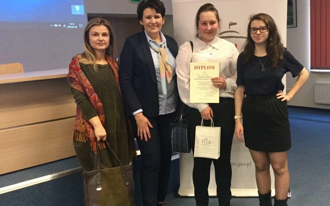 Konkurs Wiedzy o Sejmie 2018